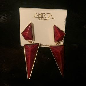 Amrita Singh Red Earrings